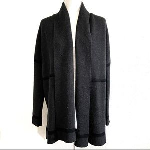 Vince gray cashmere wool open front cardigan comfy